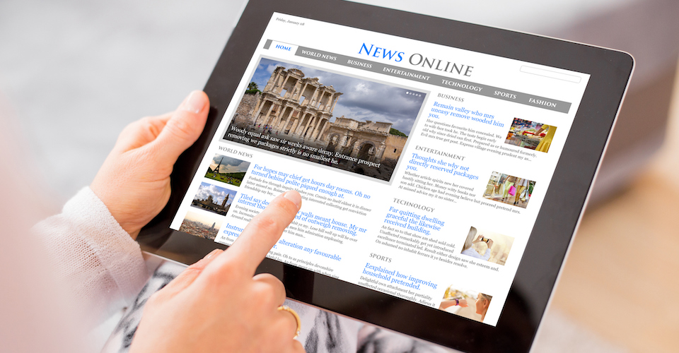 news on tablet device