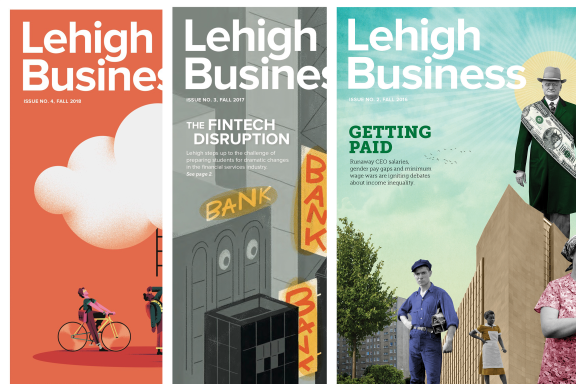 Lehigh Business Magazine covers