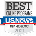 U.S. News and World Report MBA rankings badge