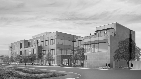 external new building rendering